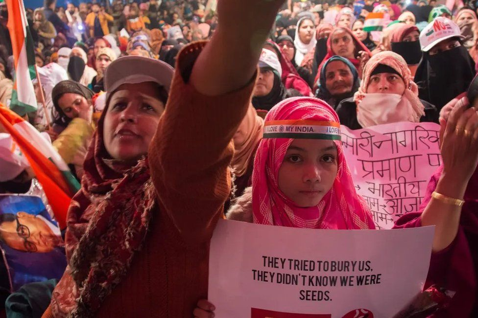 Women protesting in Shaheen Bagh