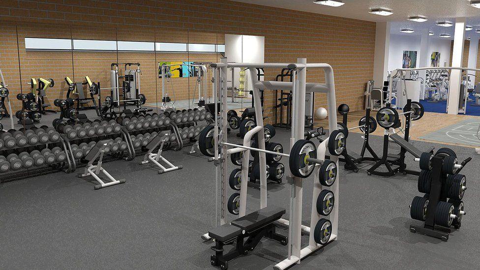 Artist's impression of the modernised gym