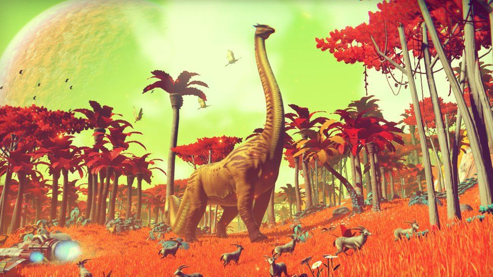 The game uses a technique known as procedural generation to automatically create planets, plants and animals