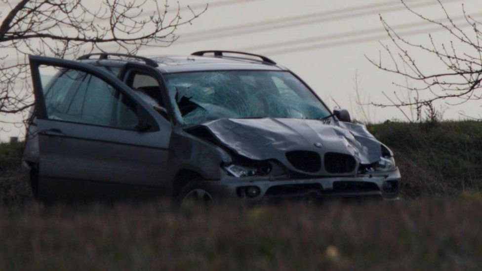 BMW involved in accident