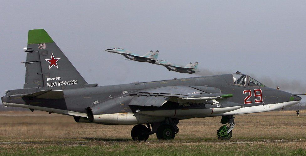 Russian Su-25 SM ground attack aircraft