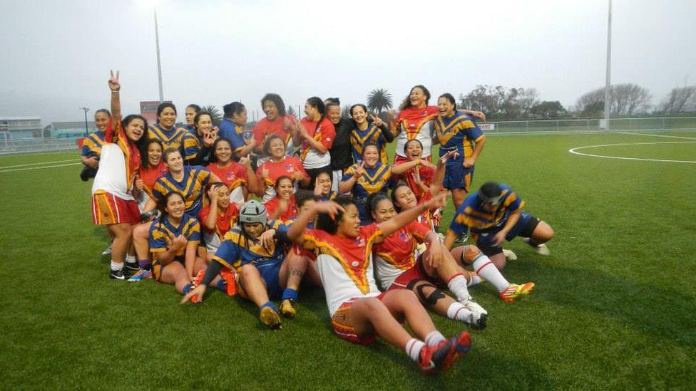 Tonga women's rugby league players seen in 2013