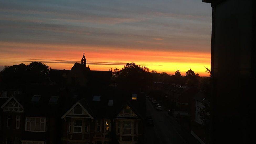Sunrise over Oxford