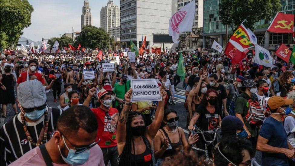 Protest against the government in Rio de Janeiro
