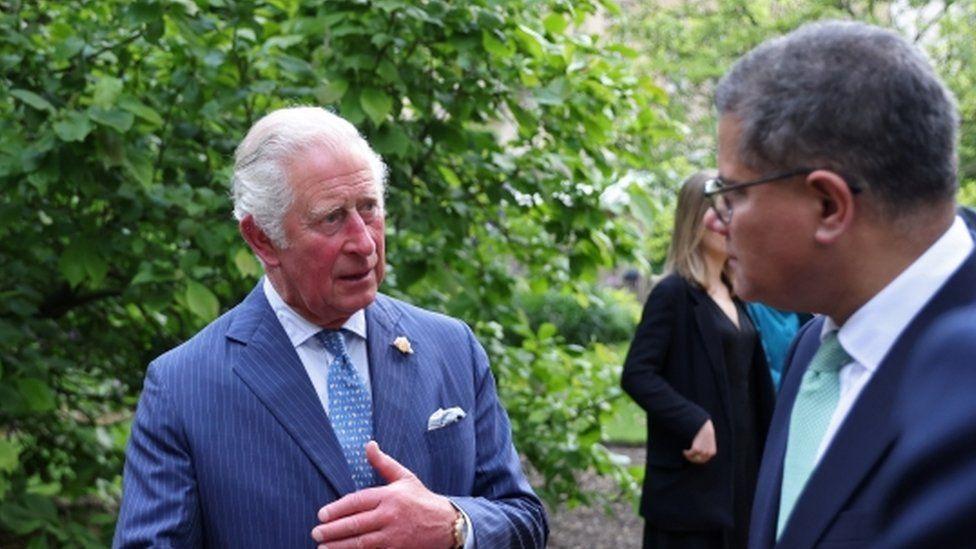 Prince Charles and Alok Sharma