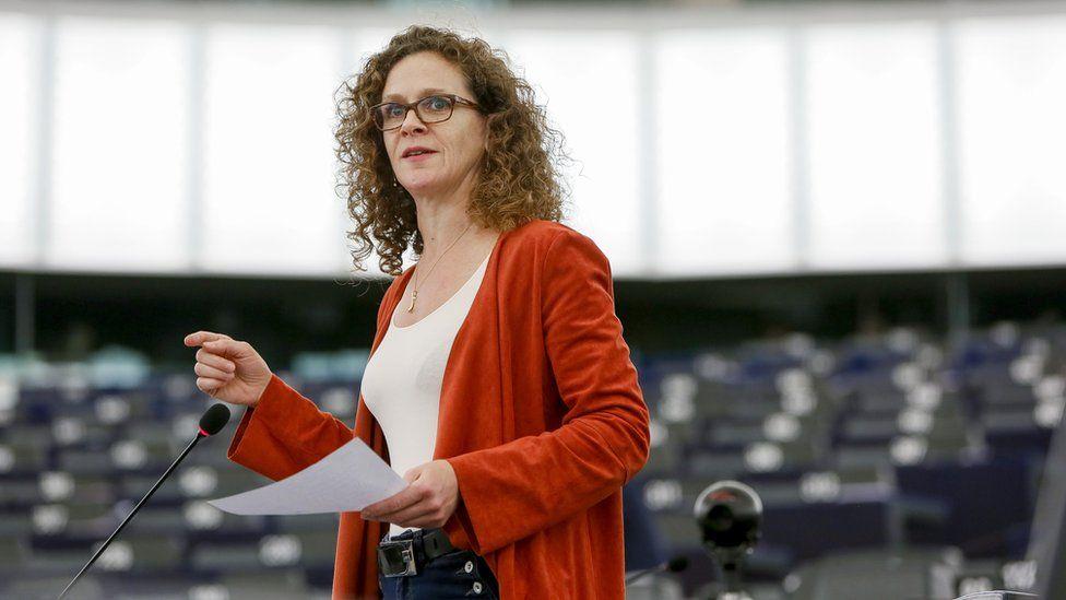 Dutch MEP Sophia in't Veld speaking in the European Parliament