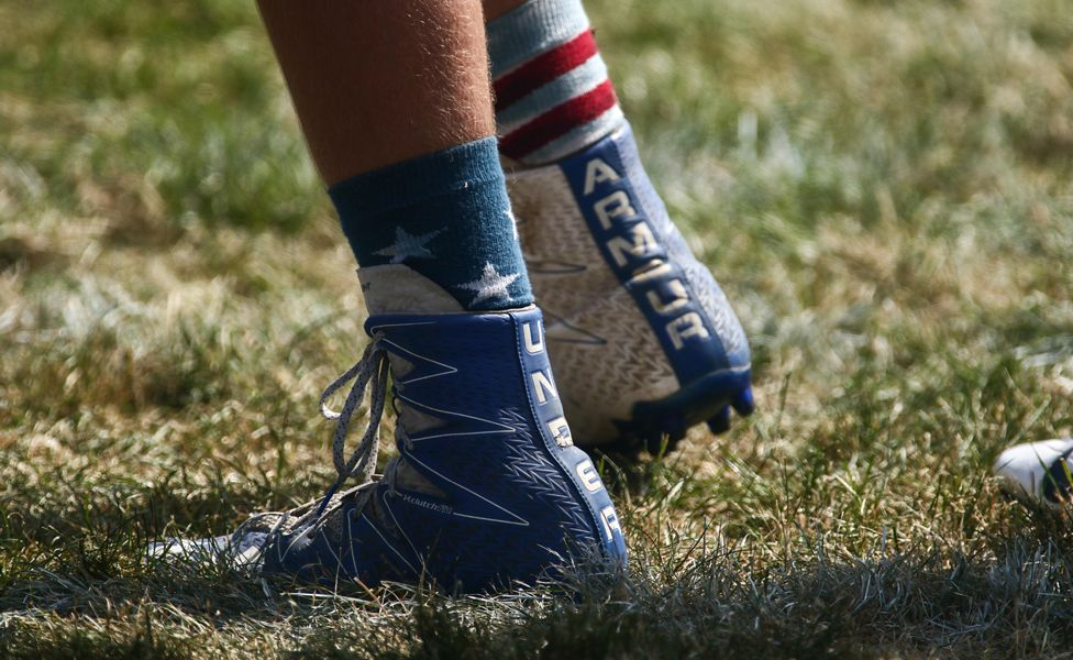 Shoes from opposing team