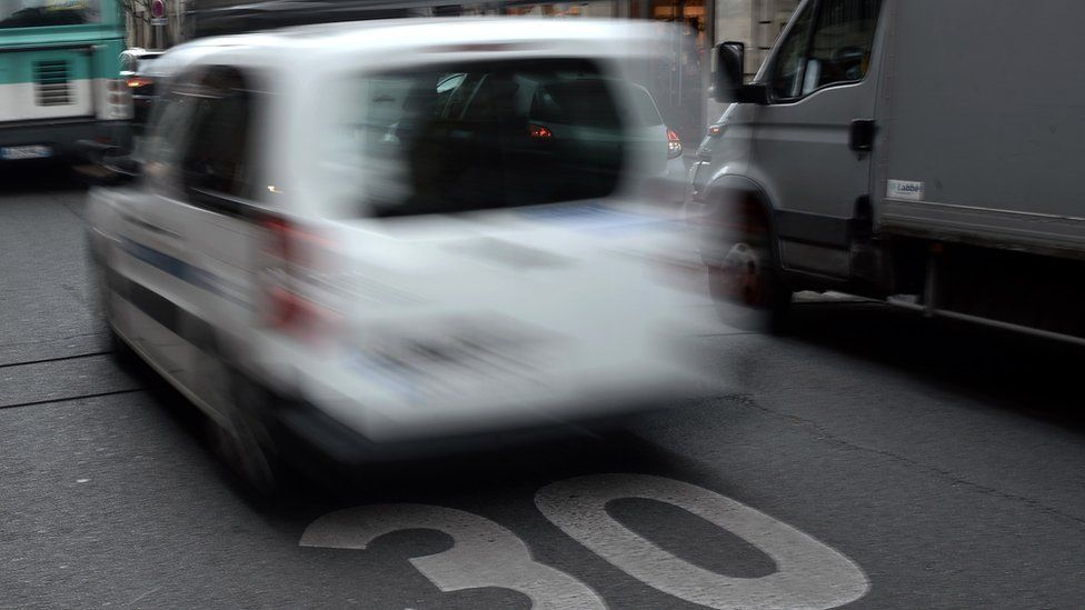 File image of a car in a 30kp/h zone