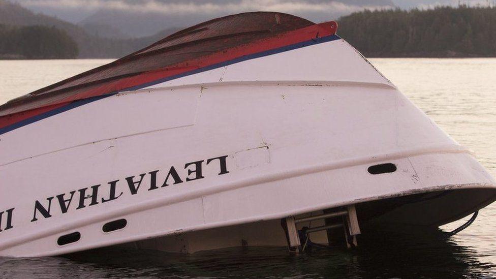 The whale-watching boat, Leviathan II, sank near Tofino, British Columbia on Sunday