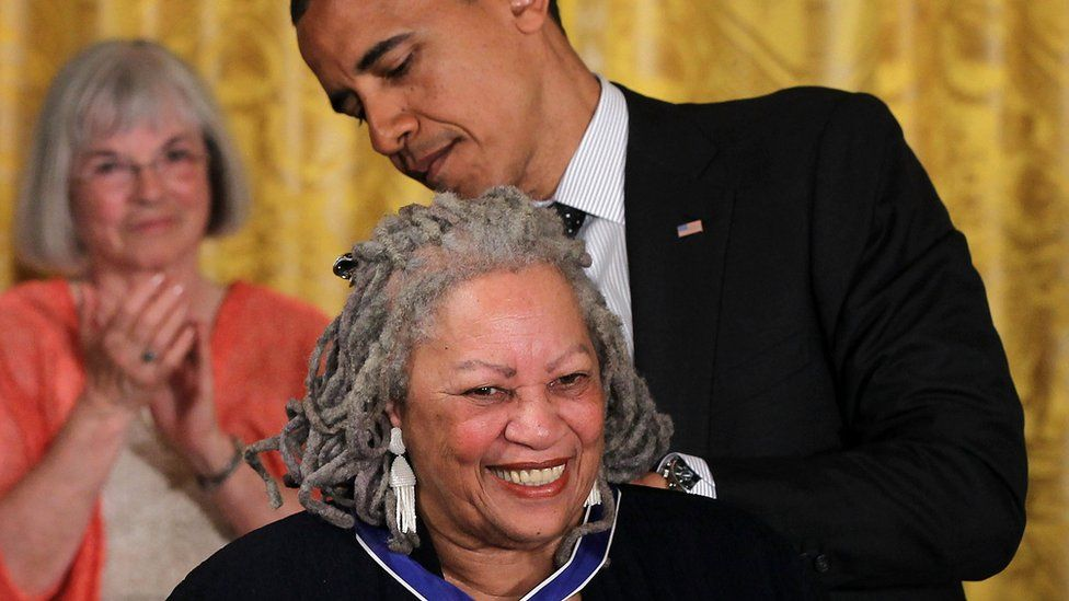 Toni Morrison and President Obama