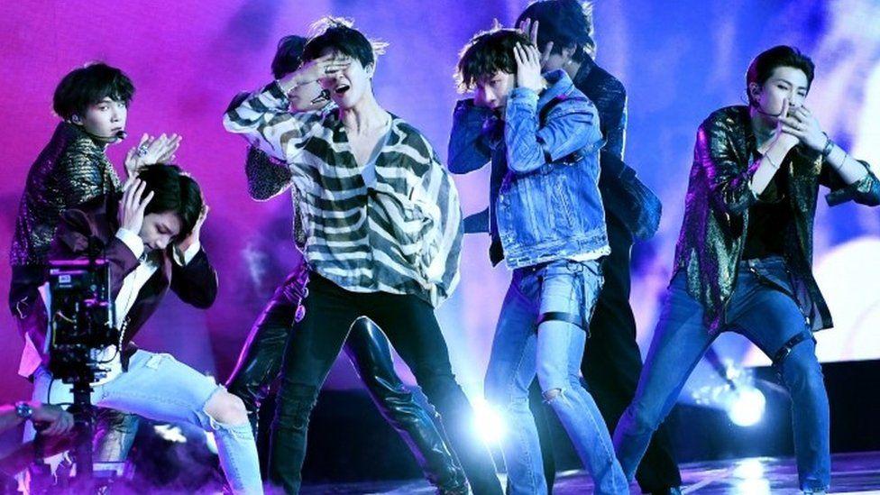 BTS live on stage