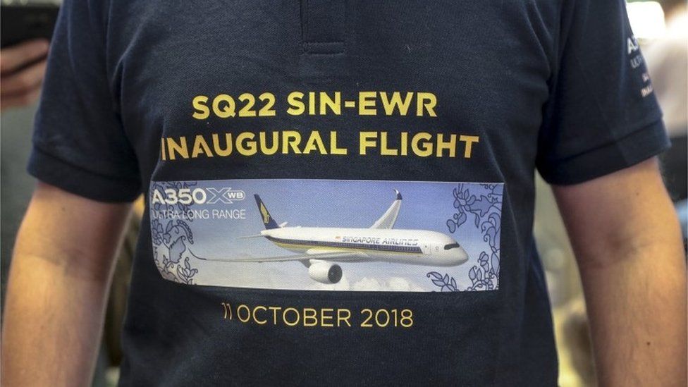 Passenger with flight details printed on it