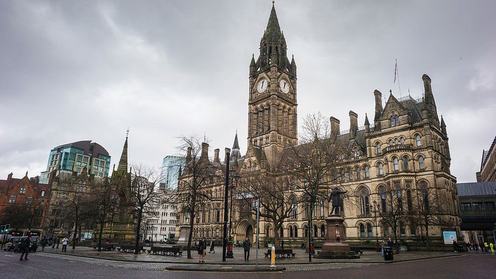 A general view of Manchester Town Hall