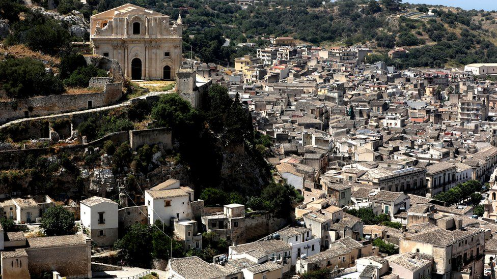 A view of the town of Scicli and the Church of San Matteo, a place where the TV series based on Inspector Montalbano was filmed in Sicily, 5 June 2018