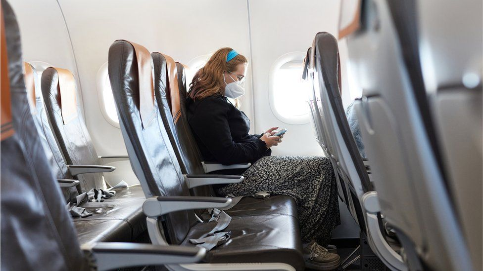 Person on a plane