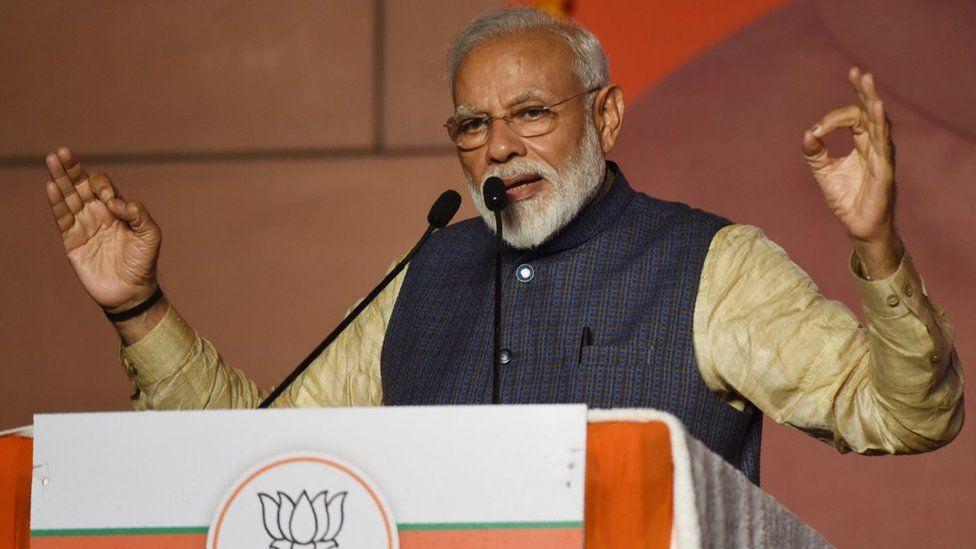 Modi giving speech