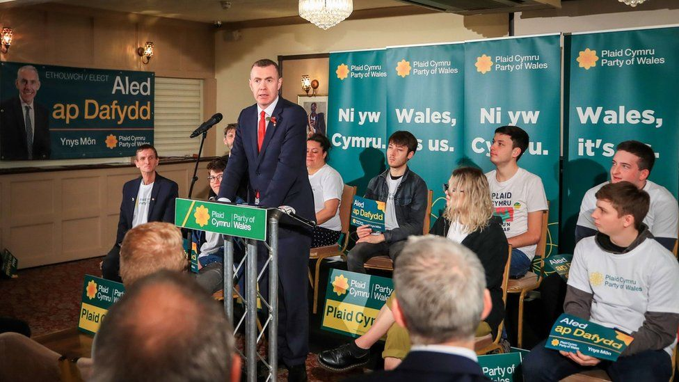Adam Price at campaign launch