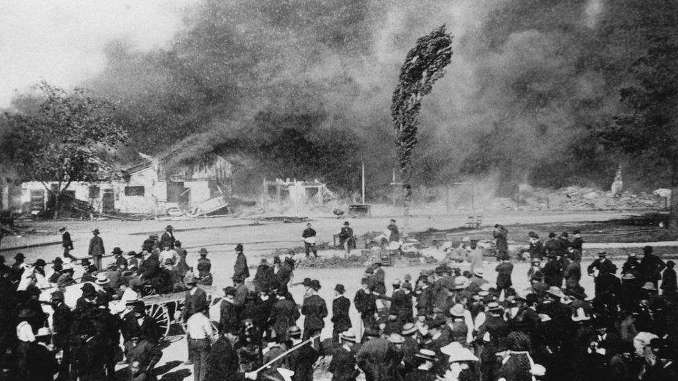 Market Street Chinatown fire, 1887
