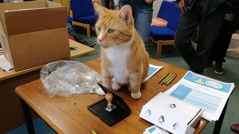 Garfield at his book signing