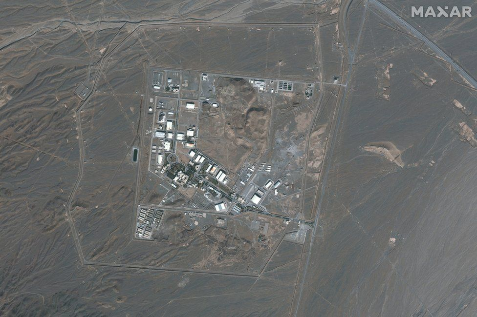 Satellite image taken on 21 October 2020 showing Iran's Natanz nuclear facility