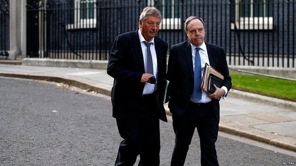 DUP MPs Sammy Wilson and Nigel Dodds