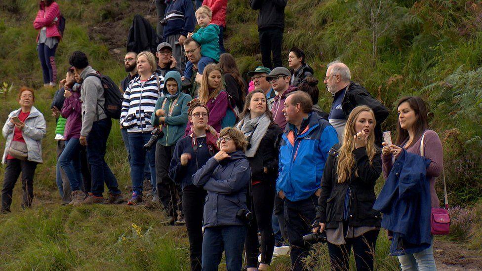 Harry Potter fans at Glenfinnan