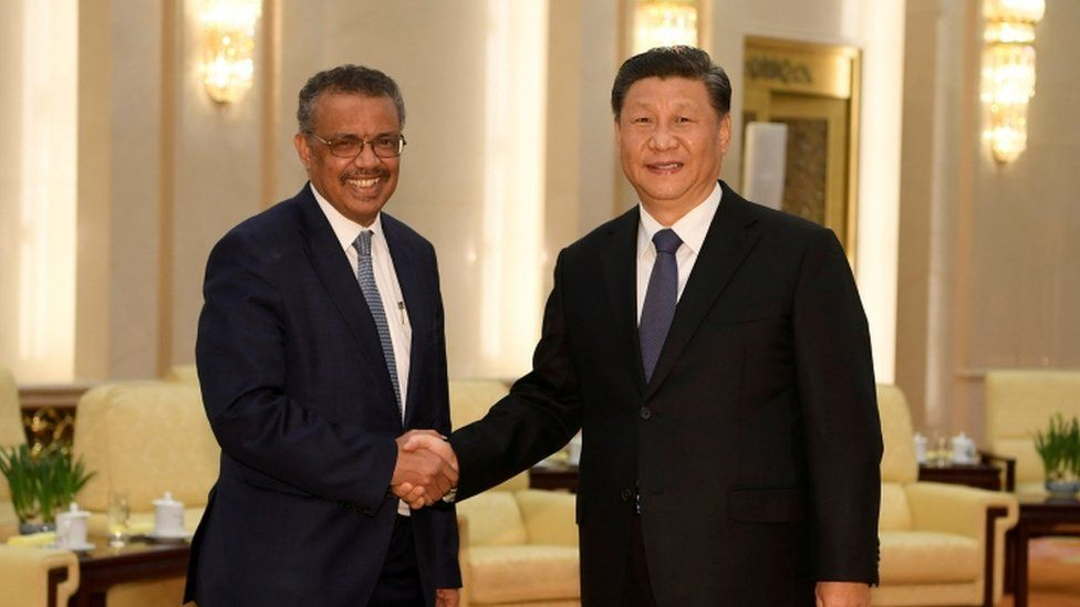 Dr Tedros with Chinese President Xi Jinping - 28 January