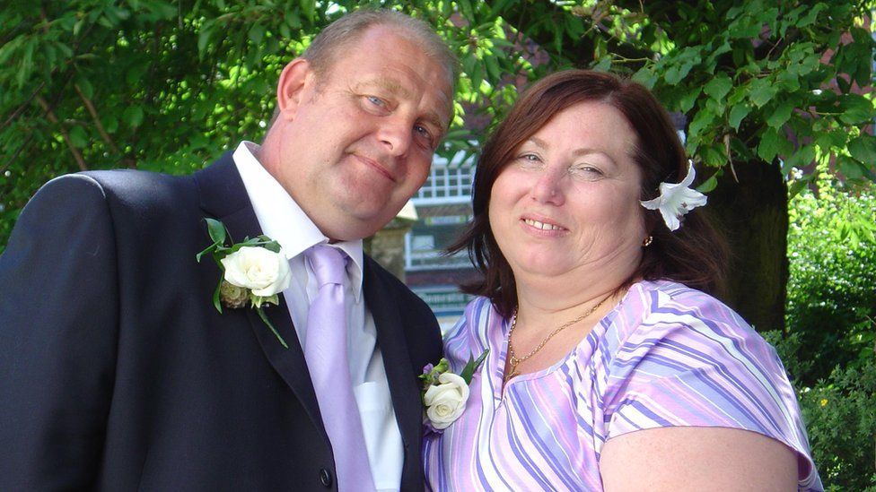 Son Neil Hasketh and his mother Jean Hasketh