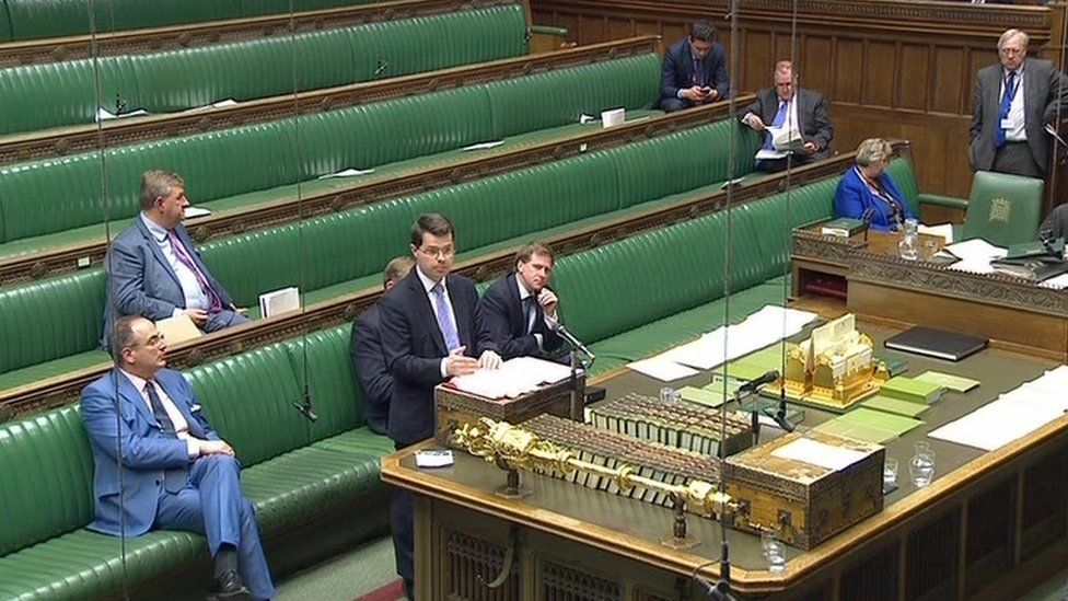 James Brokenshire speaking in the House of Commons