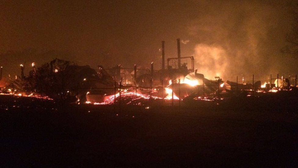 The historic Yarloop Workshops and Steam Museum has burned down in a bushfire