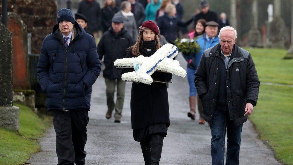 People at the Lockerbie memorial service