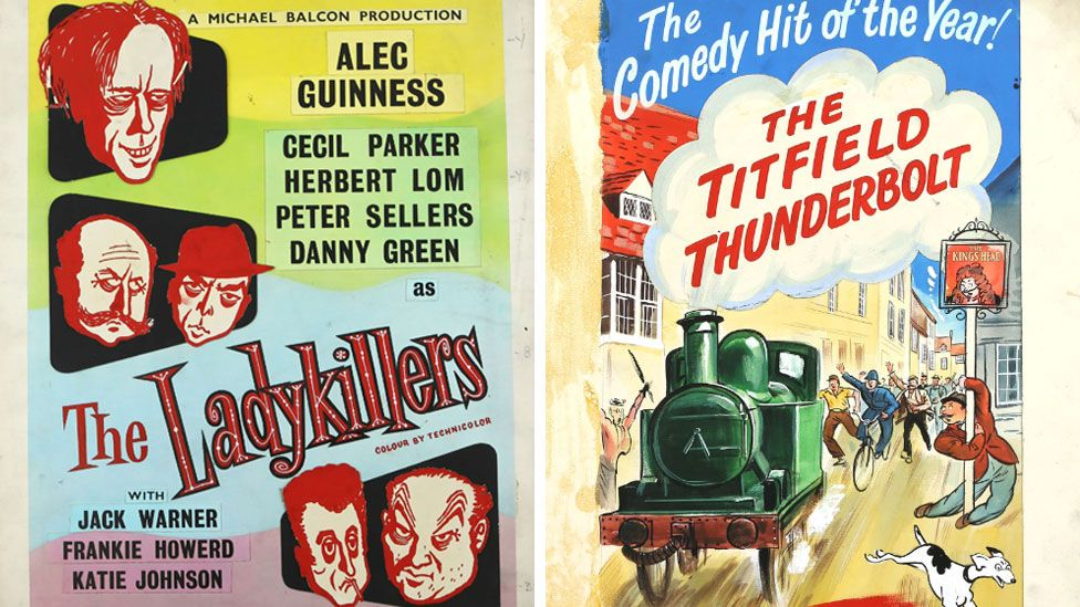 The Ladykillers and Titfield Thunderbolt (poster detail)