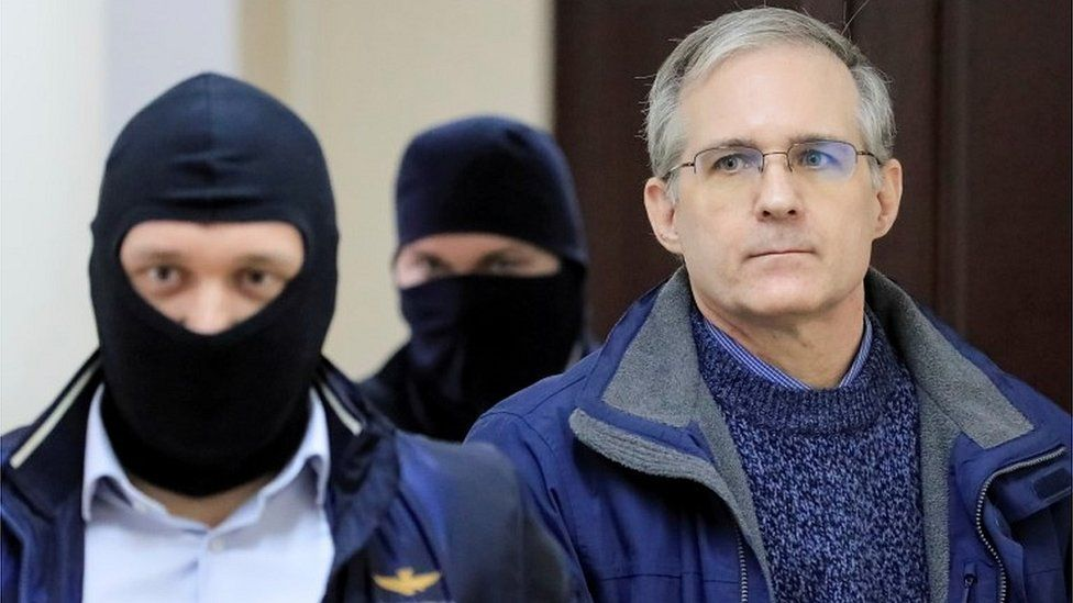 Former US Marine Paul Whelan being escorted into Moscow court, 24 Oct 19