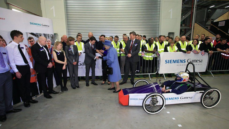 The Queen at the Siemens factory