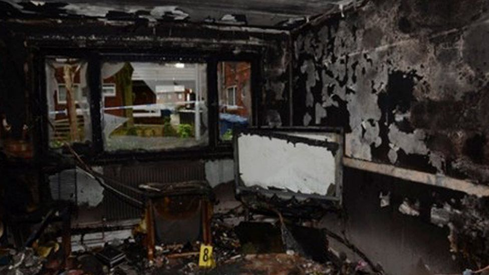 The fire damage to Robert Beattie's flat
