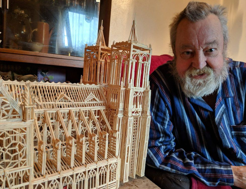 David Harding and matchstick Notre Dame