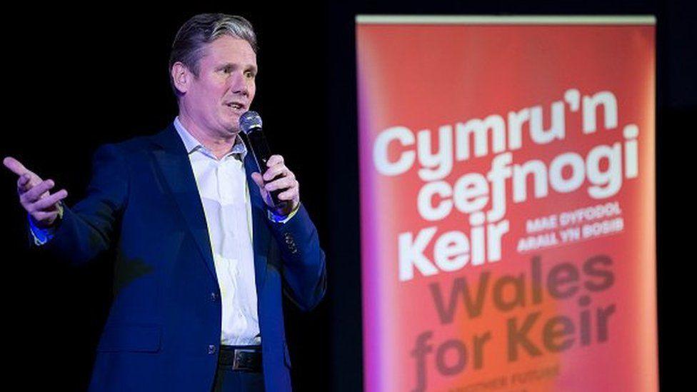 Keir Starmer yn ymgyrchu yng Nghymru, Chwefror 19, 2020