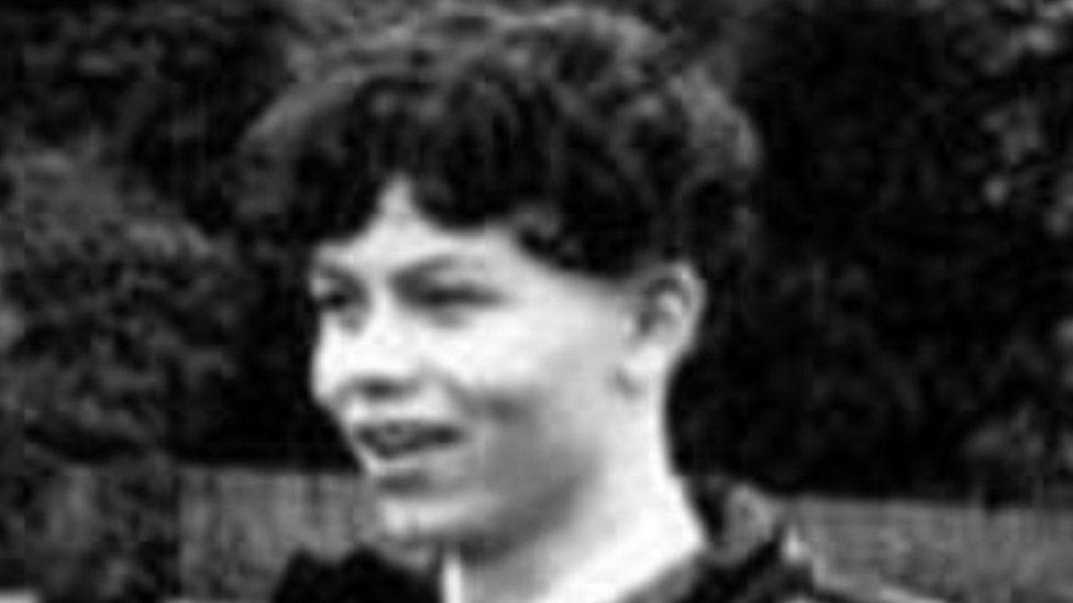 Black and white photograph of Jaydon James