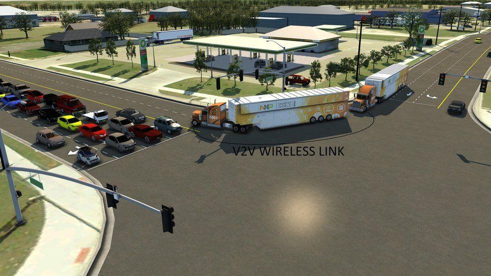Wireless connected trucks travel through Columbus