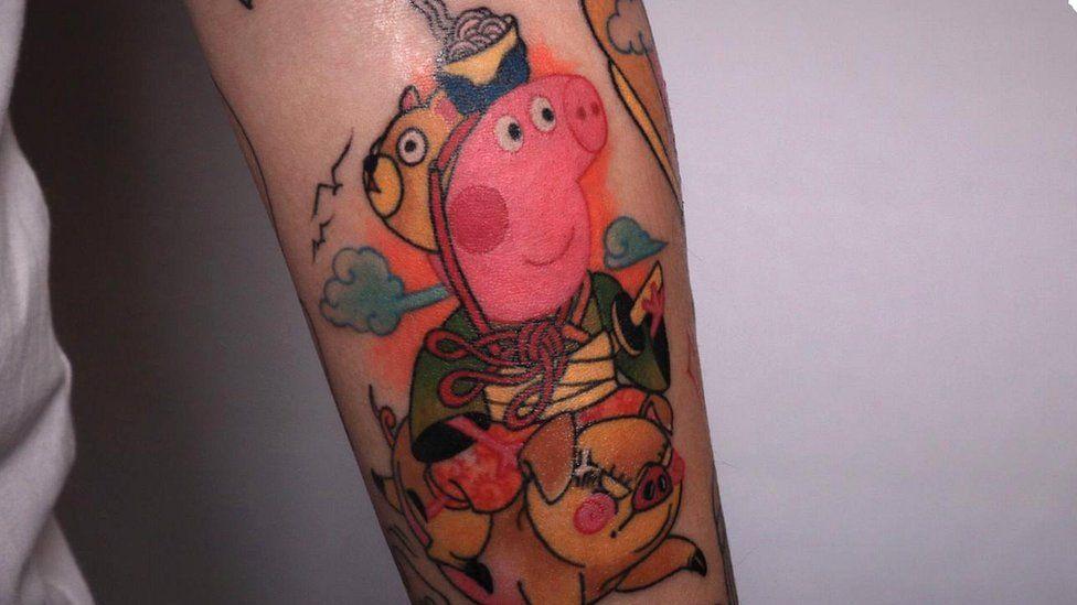 Peppa Pig tattoo
