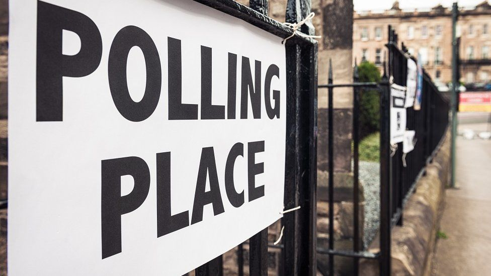 Polling place in Scotland