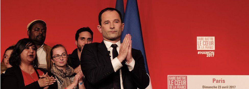 Benoît Hamon thanks supporters on 23 April
