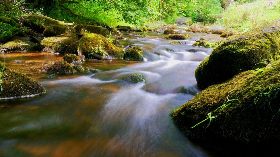 Water from the River Clywedog frozen in time near Nant Mill in Wrexham, captured by Alan Lodge.