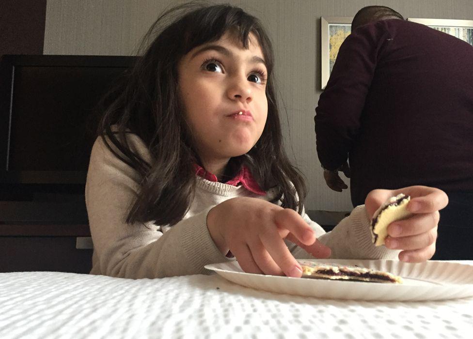 Dima tries a pop-tart