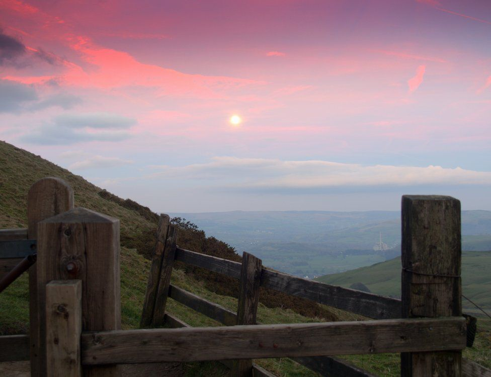 Sunset over Mam Tor