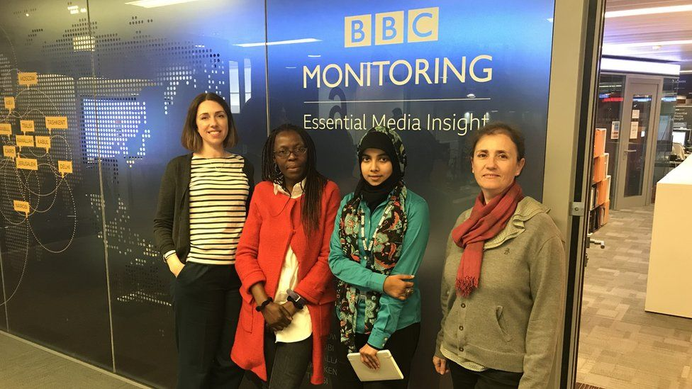 Four of the BBC Monitoring team