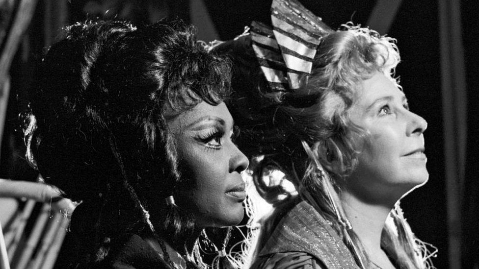 Shirley Verrett and Christa Ludwig in 'Les Troyens' at the Metropolitan Opera in October 1973