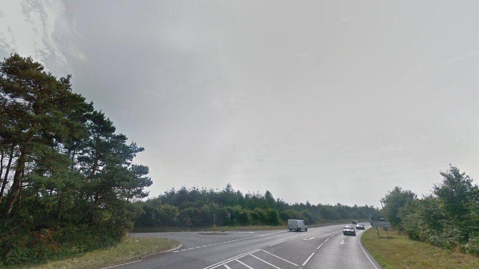 A143 near Hollow Way Hill