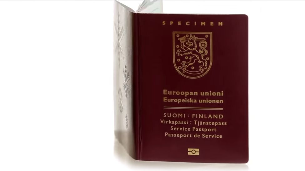 Latest Finnish passport