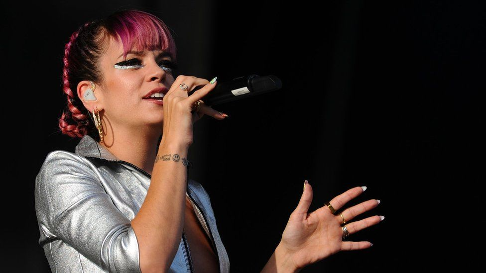 Lily Allen performs on Day 2 of the V Festival at Hylands Park on August 17, 2014 in Chelmsford